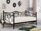 Cerná kovová postel H56 – 120x200cm