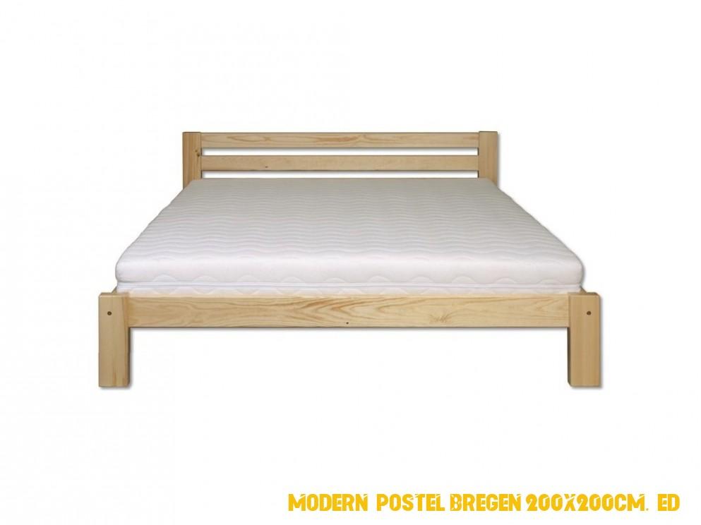 Moderní postel Bregen 200x200cm, šedá