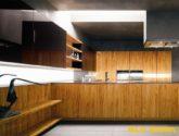 Dřevo jako nejlepší materiál pro super-moderní kuchyňské sestavy ...