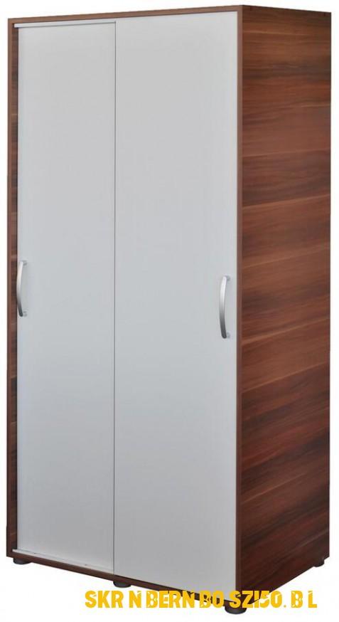 Idea Skříň s posuvnými dveřmi 4 ořech/bílá | Biano
