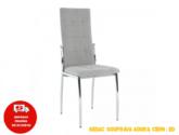 Židle, šedá látka / kov, ADORA NEW | Dům nábytku Rokycany |  nabytekrokycany