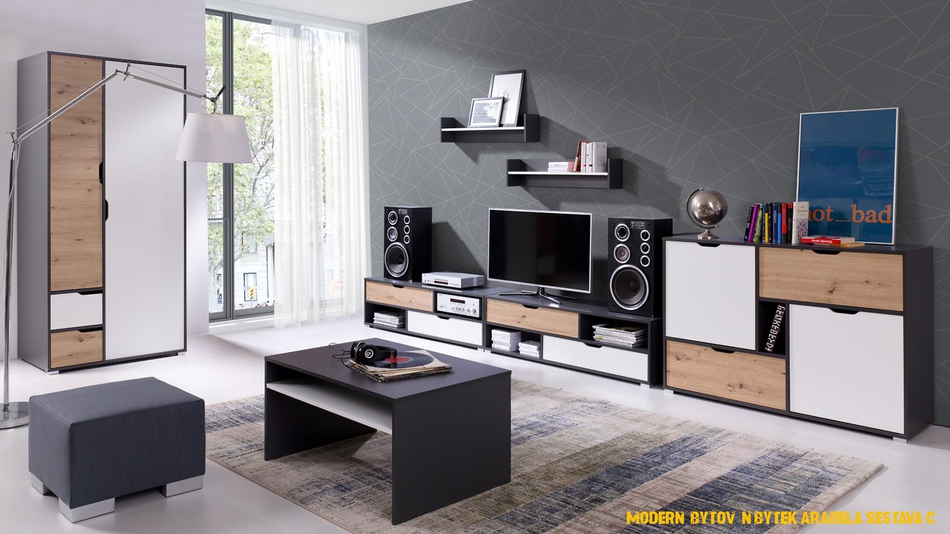 Moderní bytový nábytek Arabela sestava C
