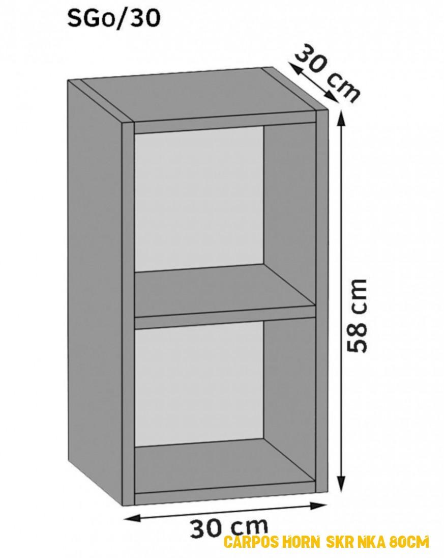 Carpos horní skrínka 80cm