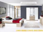 Ložnice MILO ( postel 4, komoda 4S, skříň )