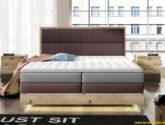 Luxusní box spring postel Toronto 4x4 + LED