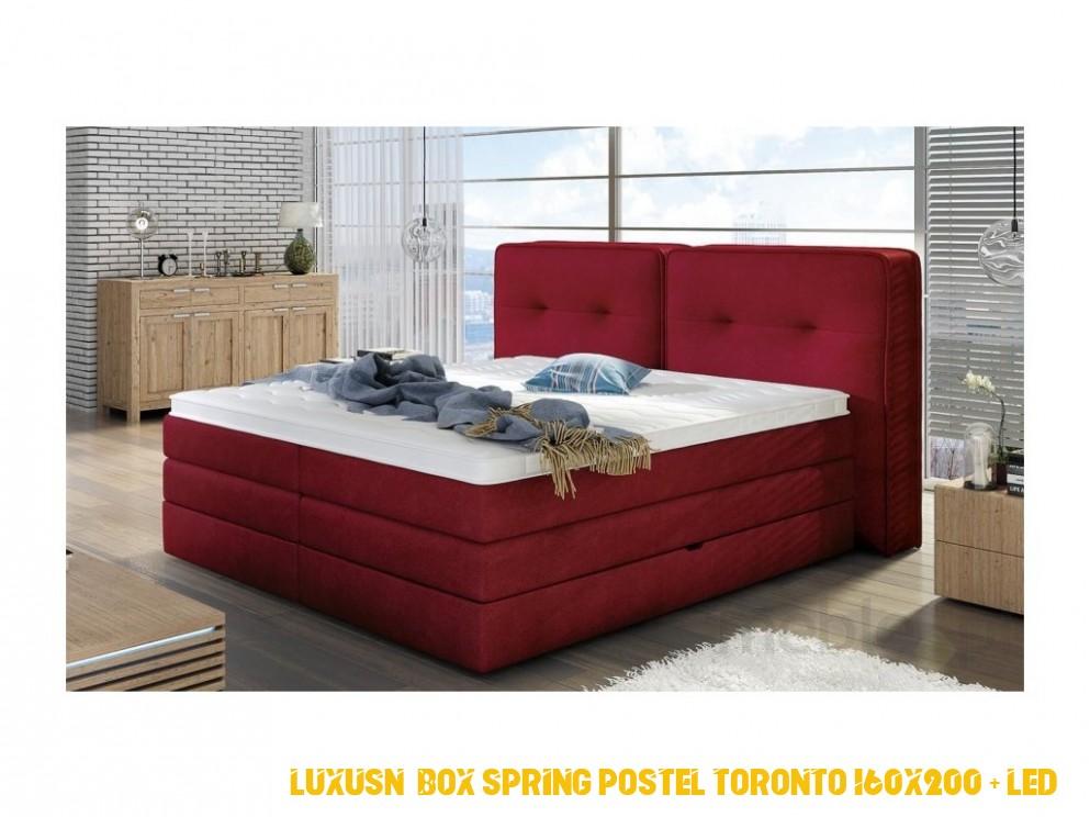 Luxusní postel FALUN, 4 x 4 cm