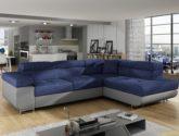 Luxusné rohová sedačka Aragon, modrá - www.nabytok-helcel