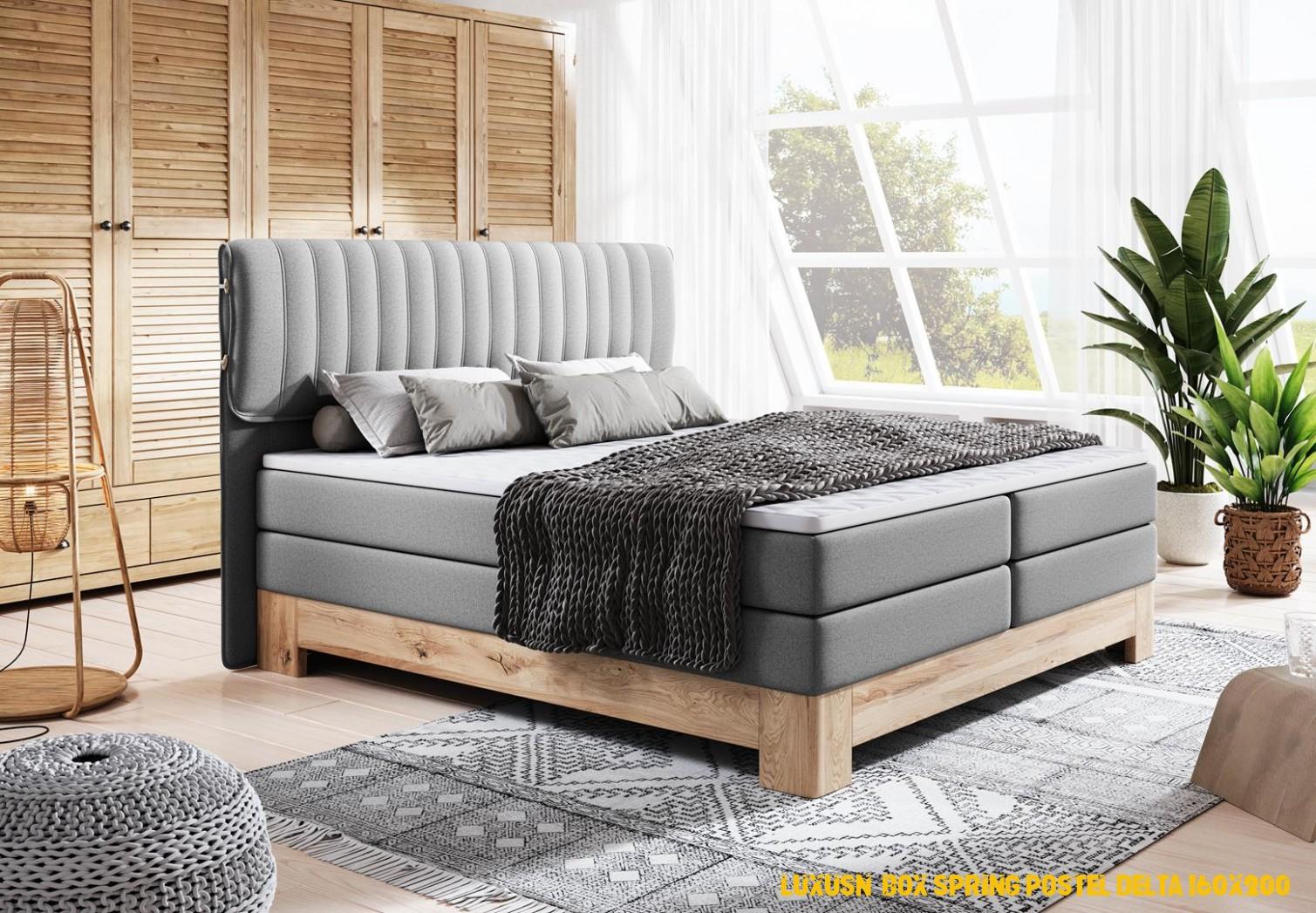 Luxusní boxová pružina postel Delta 160×200