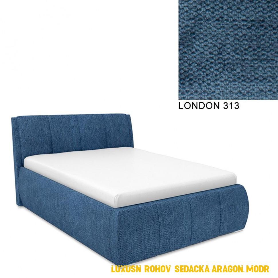 Luxusní rohová sedacka Aragon, modrá