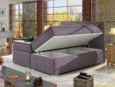 Moderní box spring postel Dive 180x200, černá