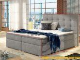 Moderní box spring postel Inter 180x200, šedá