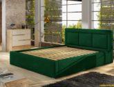 Moderní postel Bregen 4x4cm, šedá