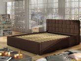 Moderní postel Ground 4x4cm, šedá