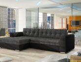 Moderní rohová sedačka Castilo, černá/šedá