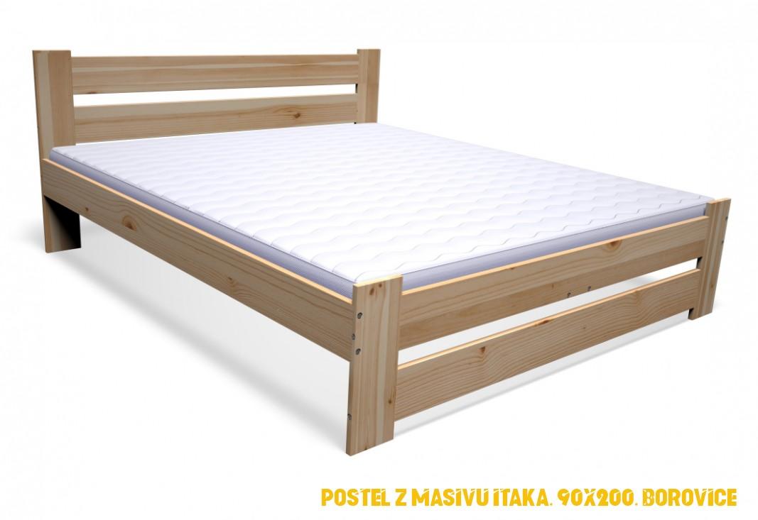 Postele z masivu 4x4 zvysena | Sleviste.cz