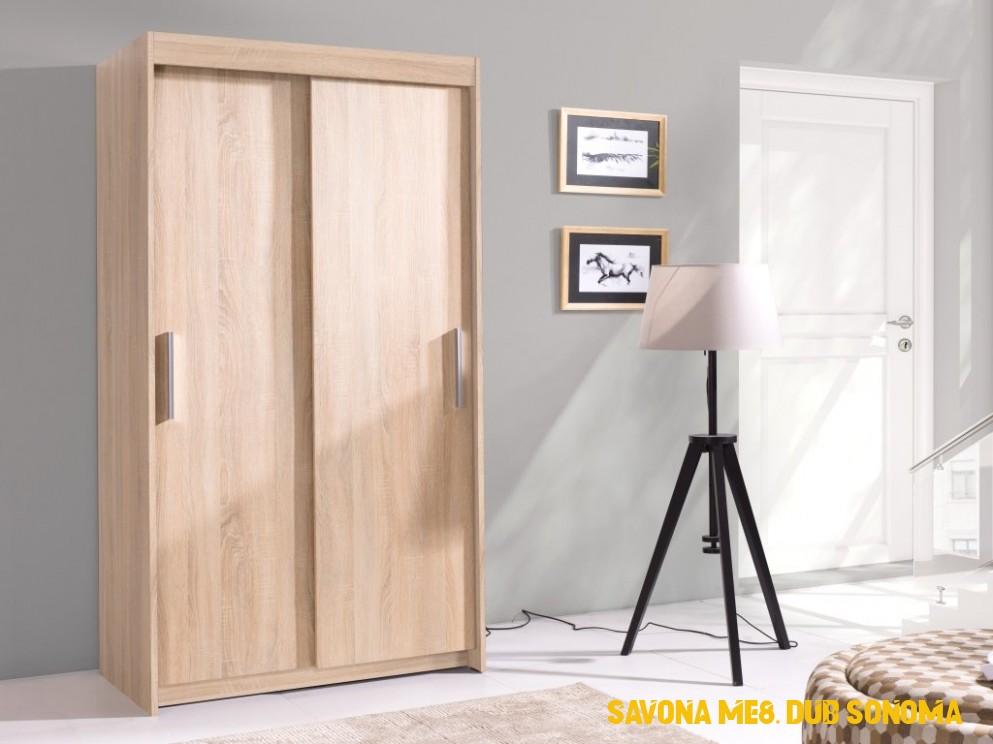 Šatní skříň - KARO 4, dub sonoma