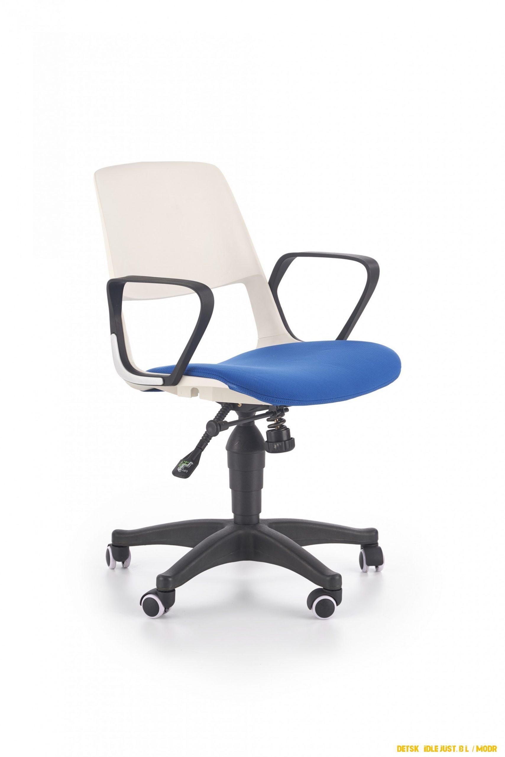 Dětská židle Just, bílá / modrá