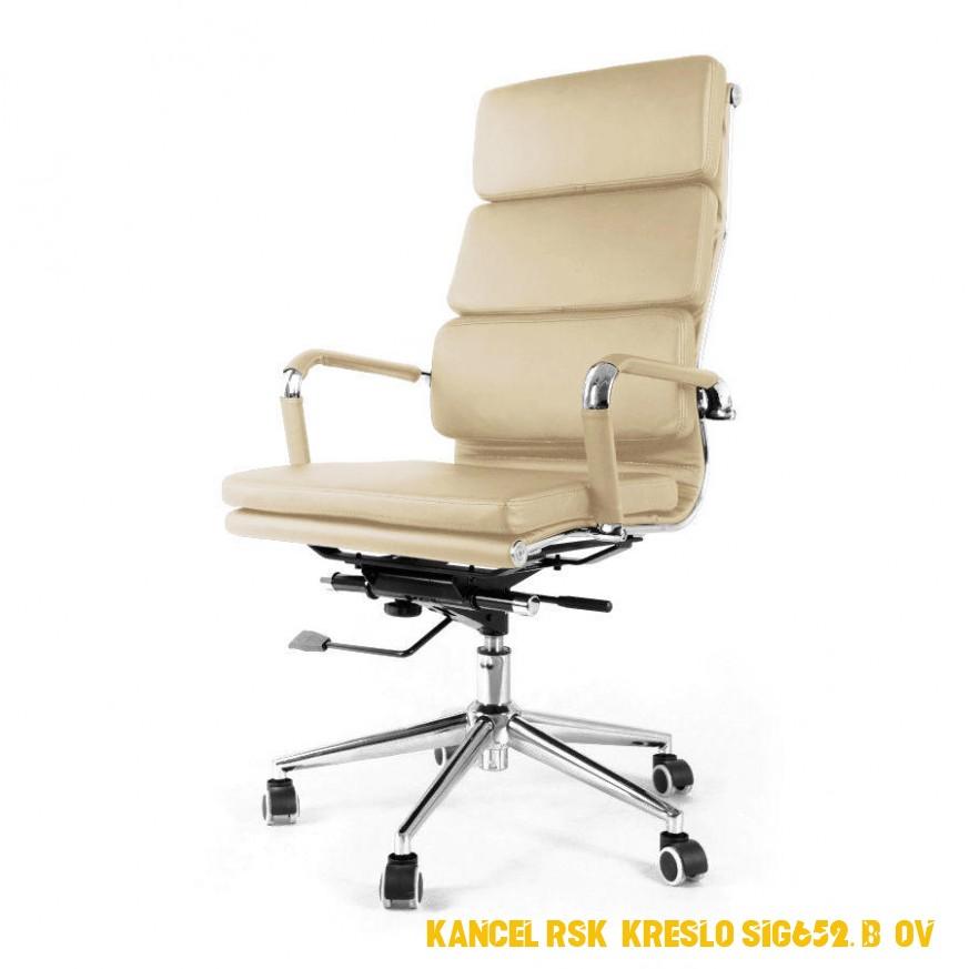 Kancelářské křeslo SOFT chrom béžové nosnost 4 kg | Biano