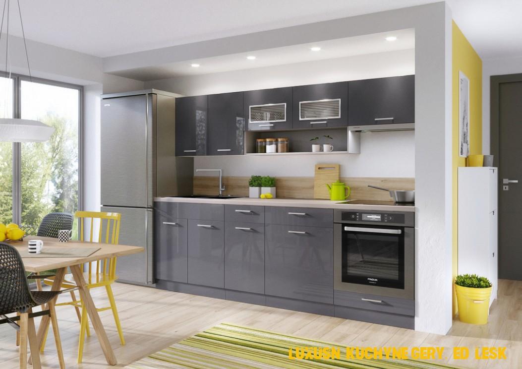 Kuchyňa MORENO akryl/šedý lesk