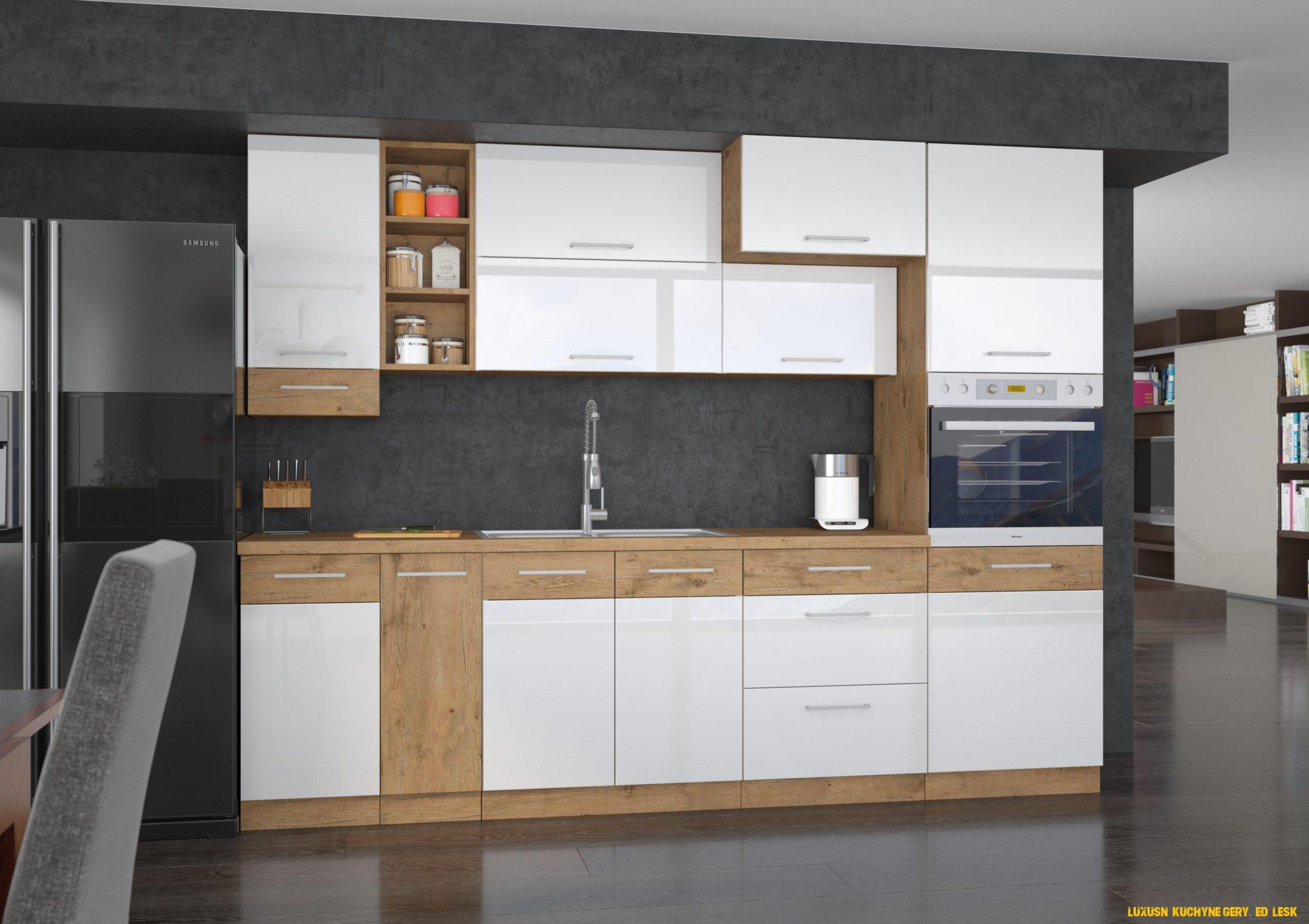 Luxusní kuchyně Gery, šedý lesk