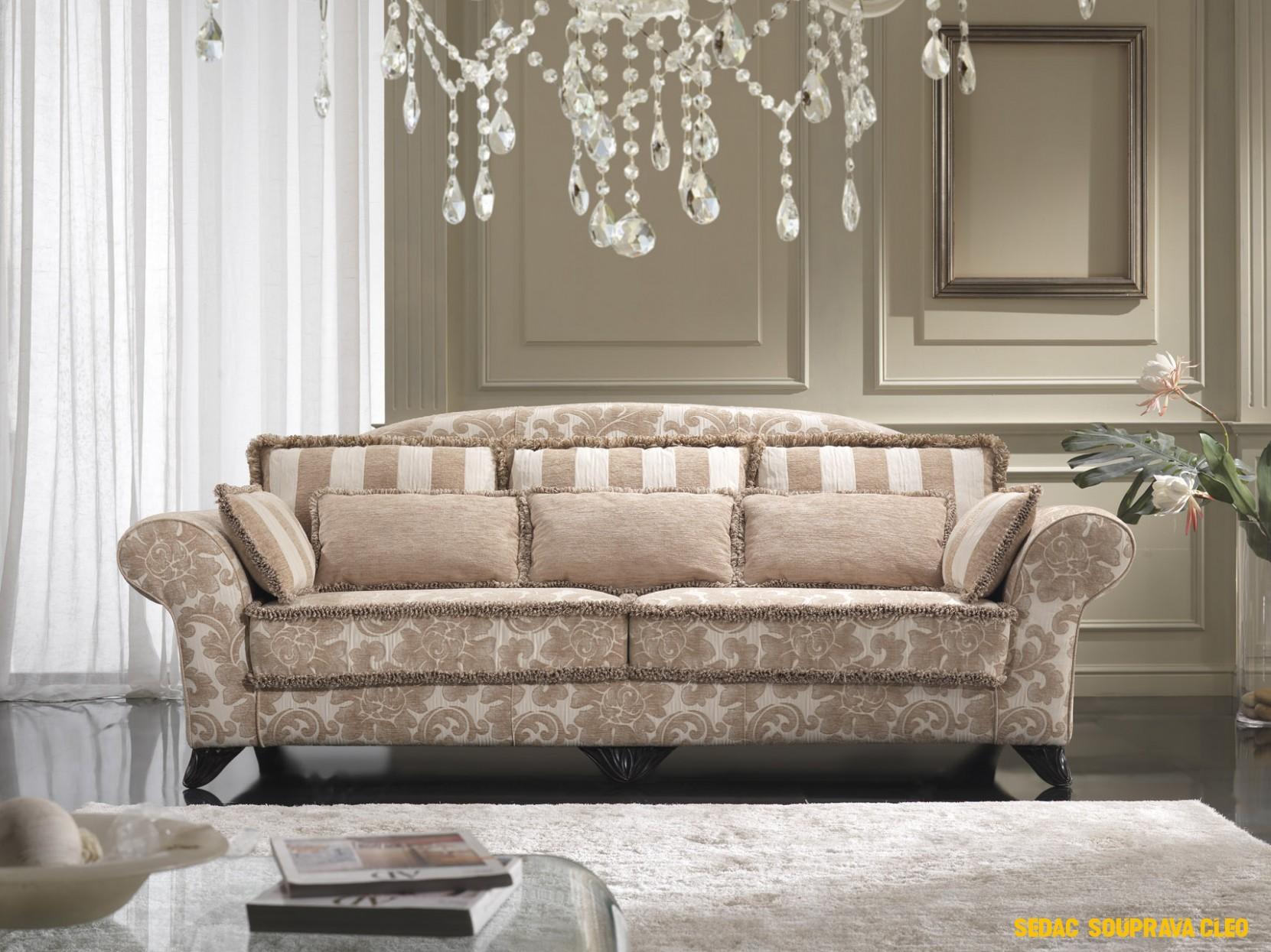 Luxusní sedací souprava Puccini: elegance s masivním polstrováním