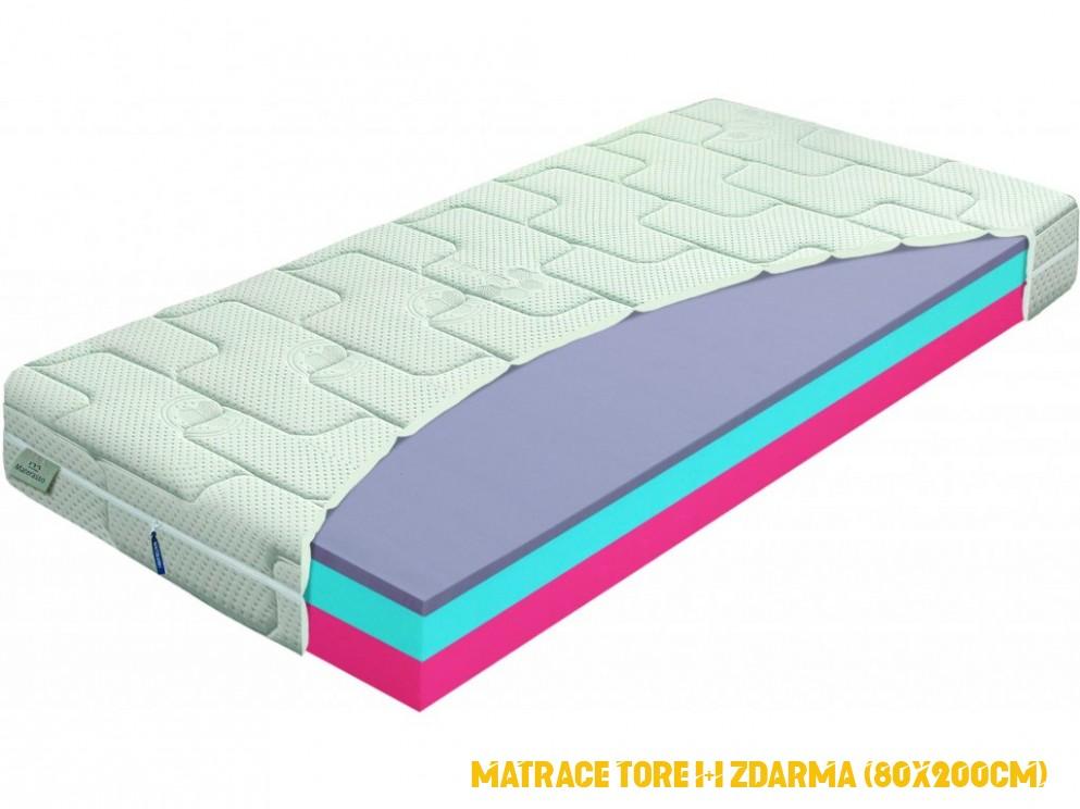 Matrace Tore 1 + 1 ZDARMA (80x200cm)