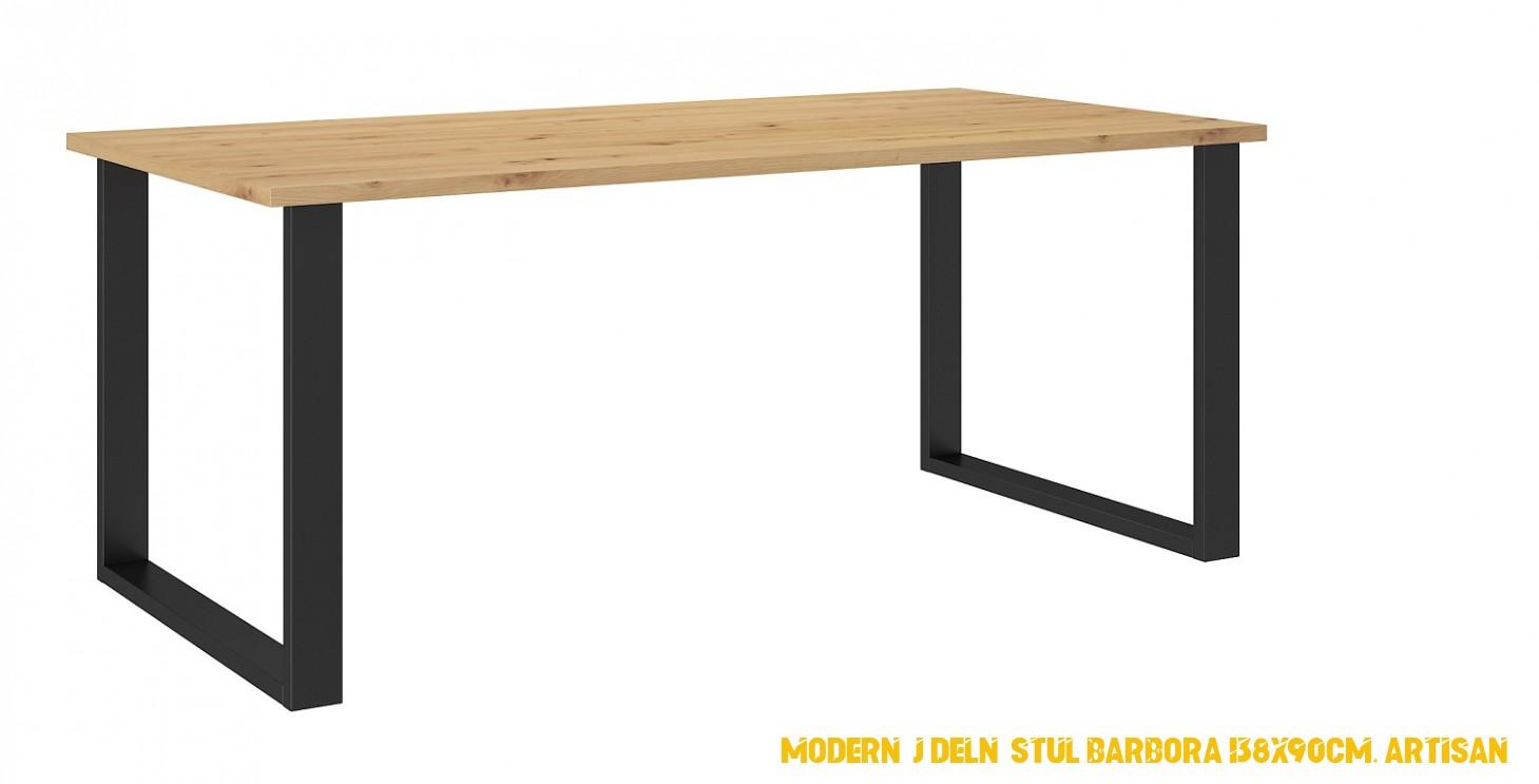 Moderní jídelní stul Barbora 138x90cm, řemeslník