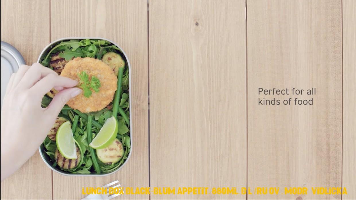 NAOKO.cz - Nerezový <br>BLACK+BLUM Steel Lunch Box, zelený