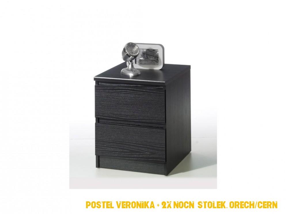 Noční stolek Martin 4 černý woodgrain