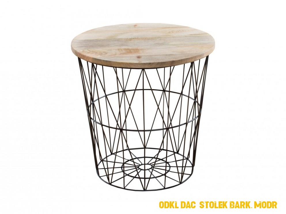 Odkládací stolek Rages, 4 cm, černý/mango | MUJHOUSE.CZ