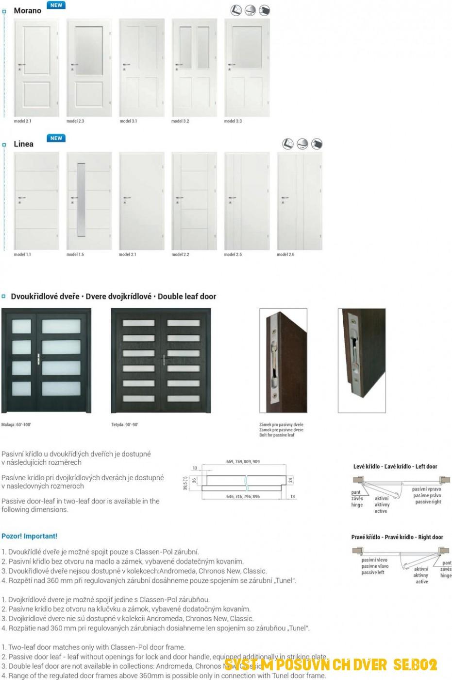 Systém posuvných dverí SE.B02