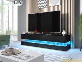 Televizní stolek FLY, černý mat/černý lesk ZRUŠENO ...