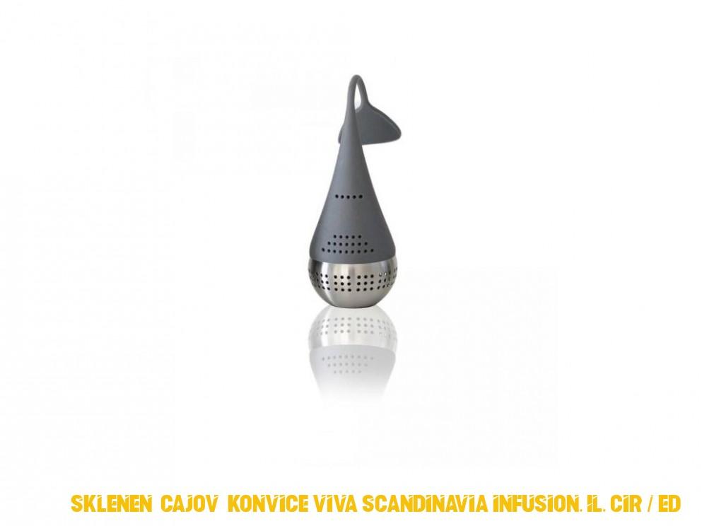 Sklenená cajová konvice VIVA SCANDINAVIA Infusion, 1L, cirá / šedá