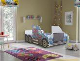 Detská postel Traktor cervený 160×80 + matrace ZDARMA!