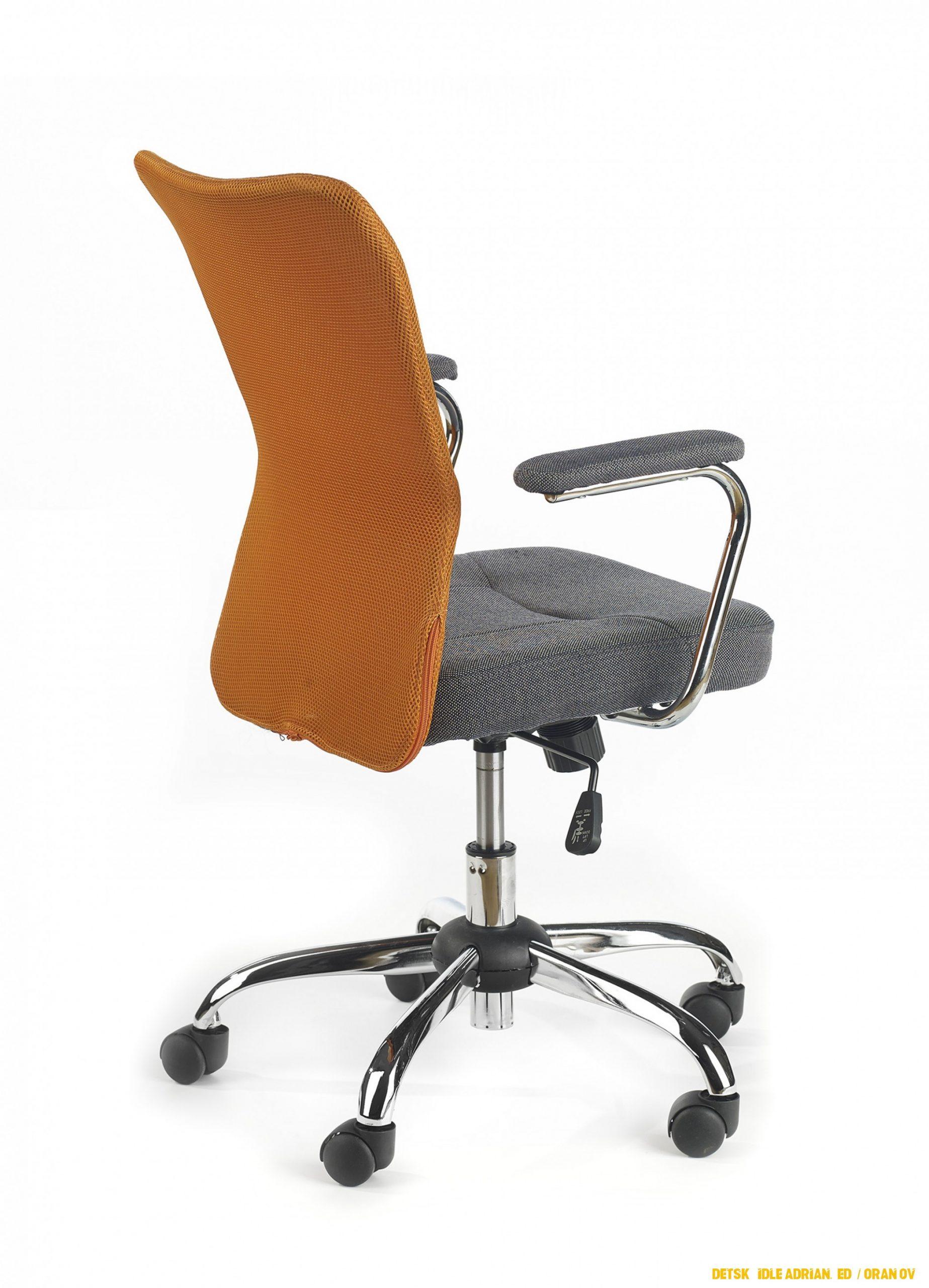 Dětská židle Adrian, šedá / oranžová
