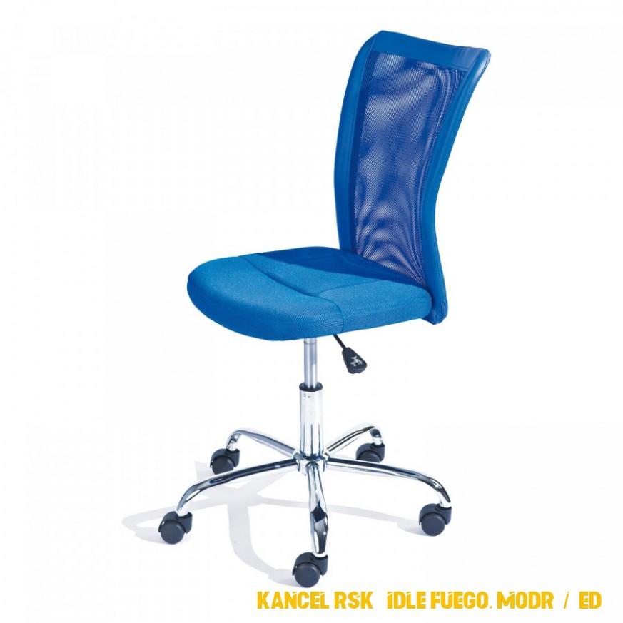 Kancelárská židle Fuego, modrá / šedá