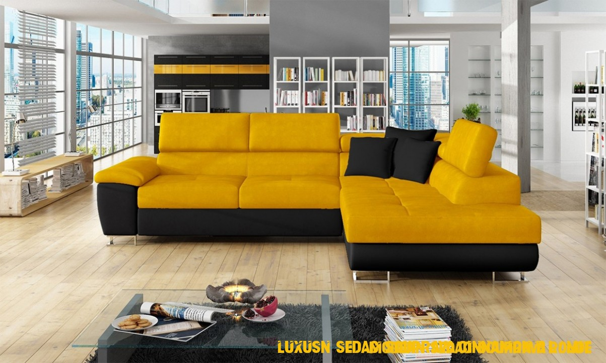 Luxusní sedací souprava Cinnamon, černá/žlutá - Sebastiaandillmann