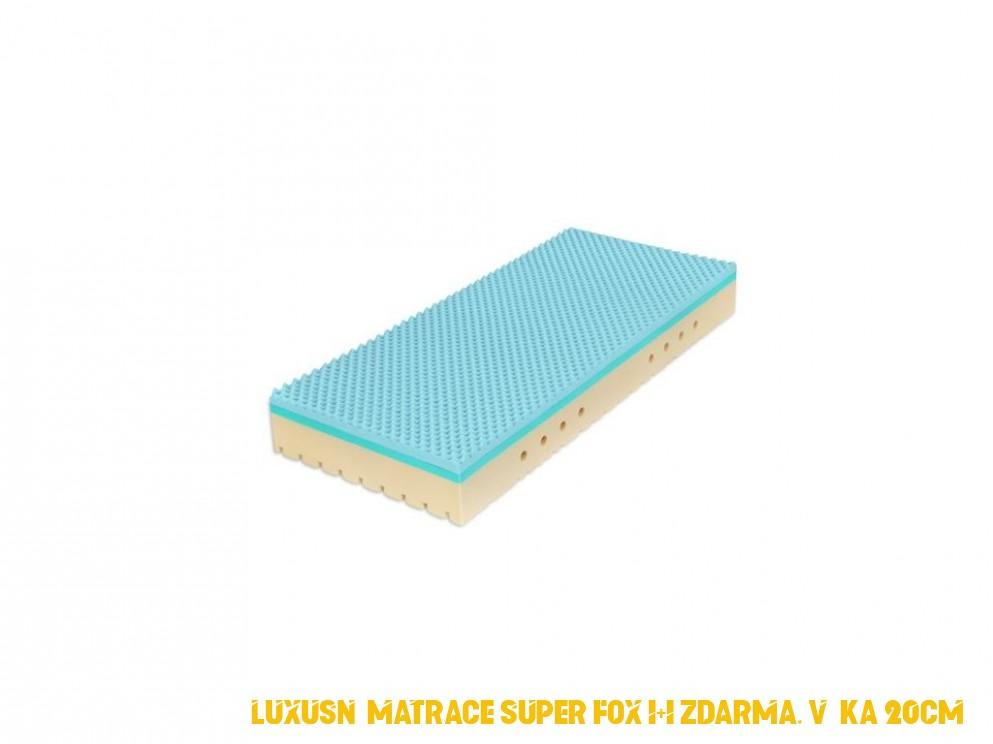 Matrace Super Fox Blue Akce 4+4 zdarma výška 4 cm + prodloužená záruka +  matracový chránič v hodnotě 4 Kč
