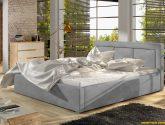 Moderní postel Marseille 4x4cm, bílá - www.nabytek-helcel