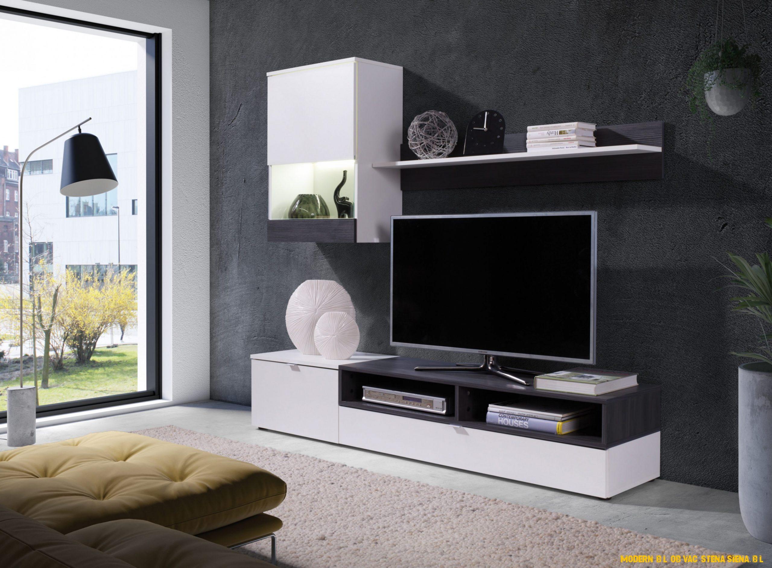 Moderní bílá bytová stěna Siena, bílá