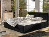 Moderní postel Angelika 160x200cm, šedá