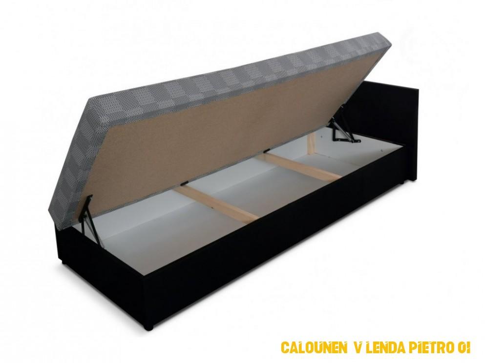 Pohodlná válenda 4x4 cm černá pravá KN4 - NAKUP-NABYTEK.cz