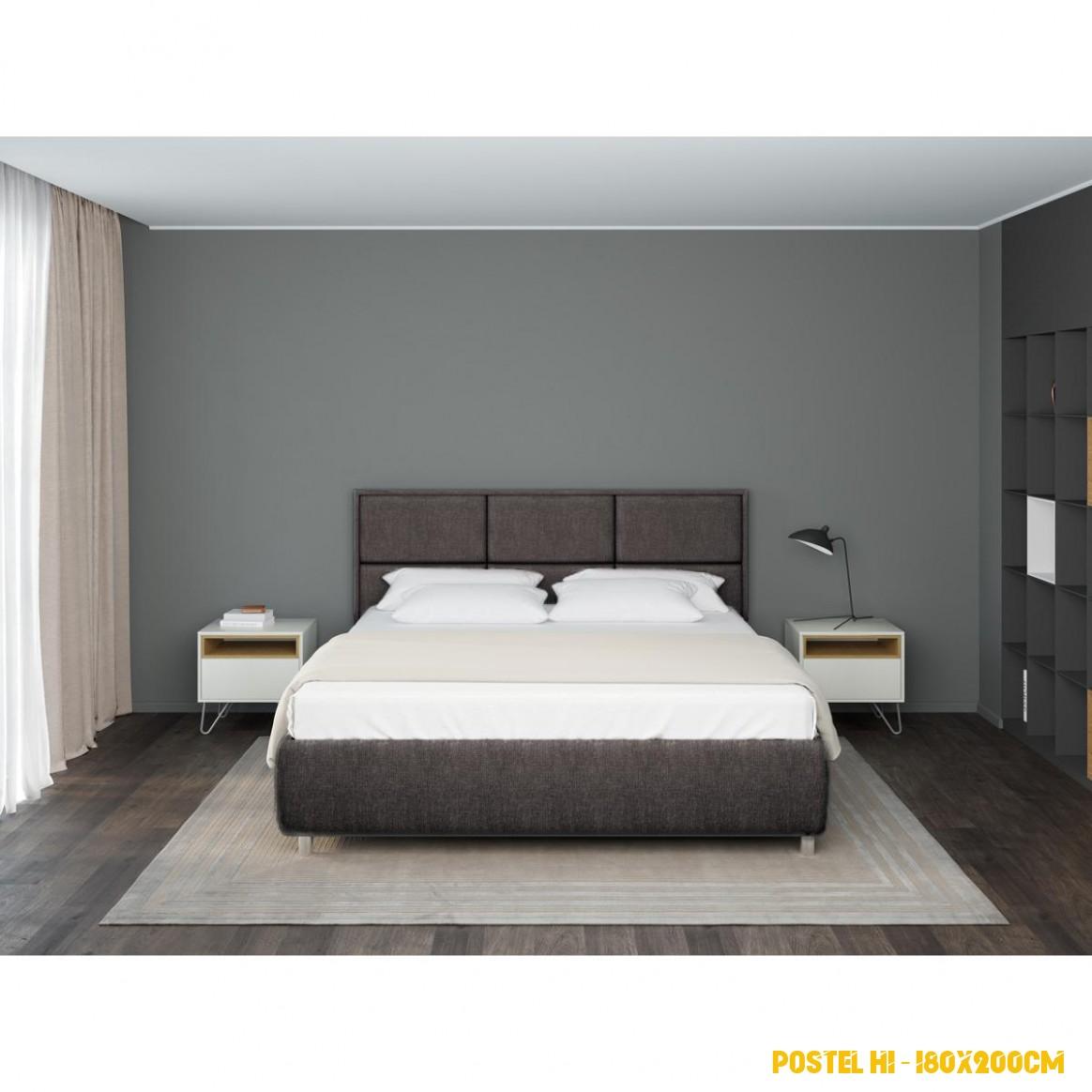 Čalouněná postel Aurora Frame Lift 4x4 cm v barvě Bahama Graphite    www.prospanek.cz