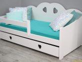 Dětská postel z masivu Tosca, 4x4, bílá