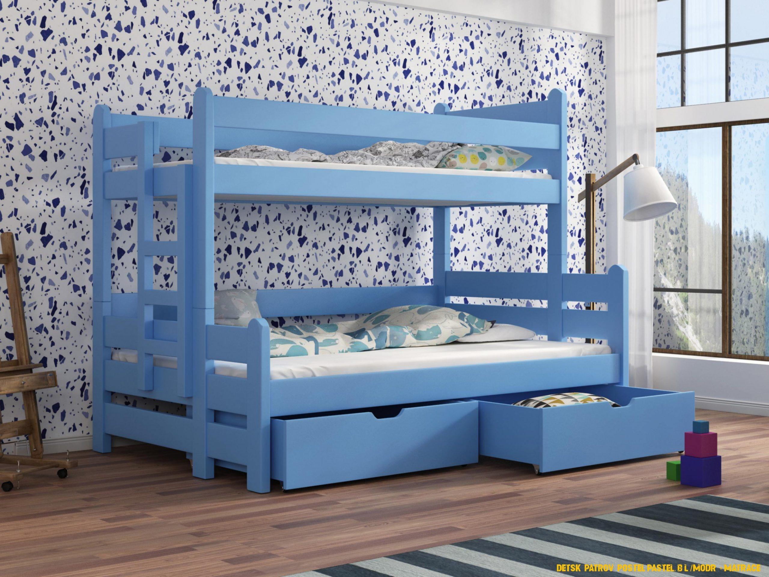 Patrova detska postel osuna modra levně   Mobilmania zboží