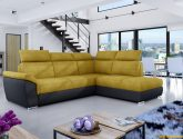 Rohova sedaci souprava levne zluta | Sleviste