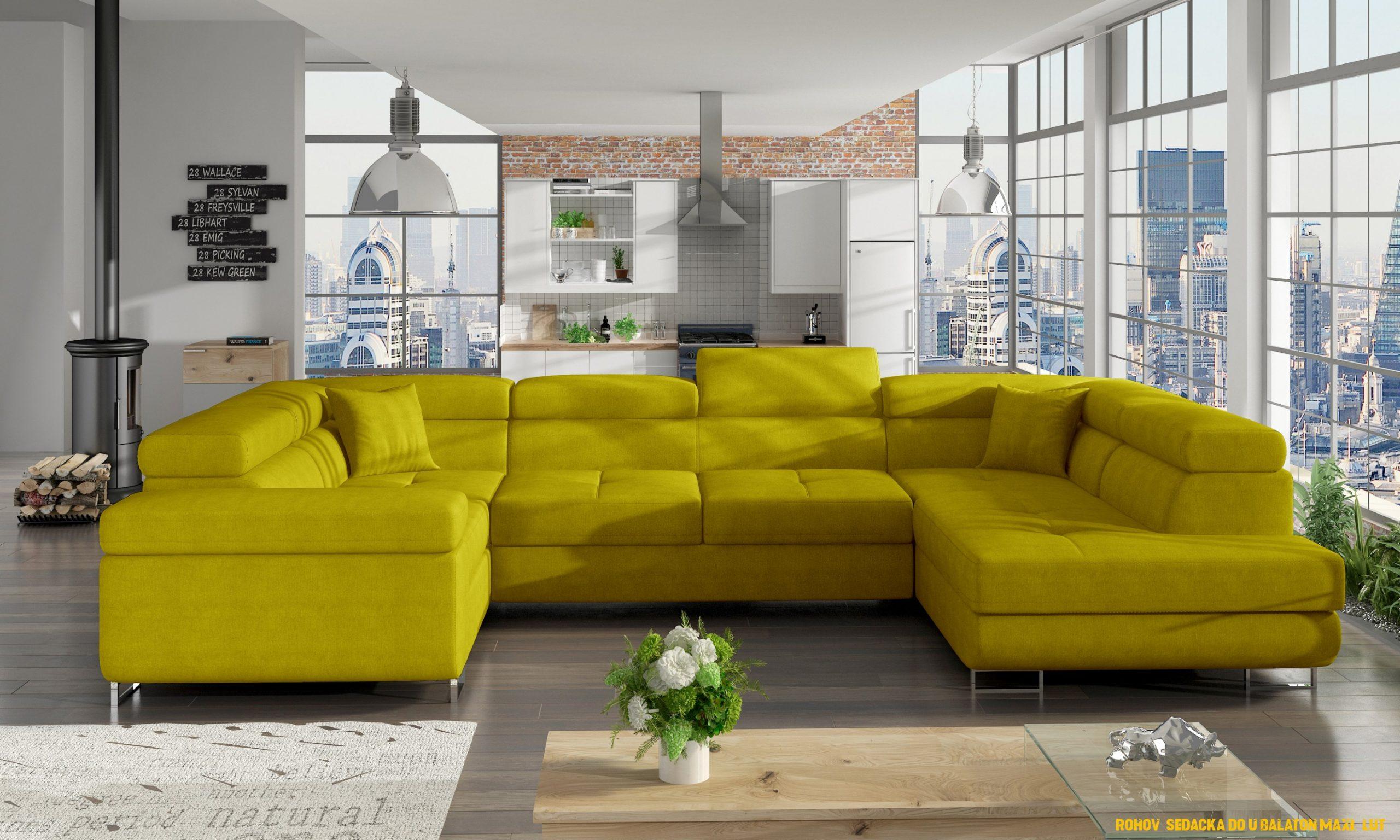 Rohová sedacka do U Balaton maxi, žlutá
