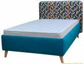 Moderní boxová pružina postel Rapid 200×200, tyrkysová