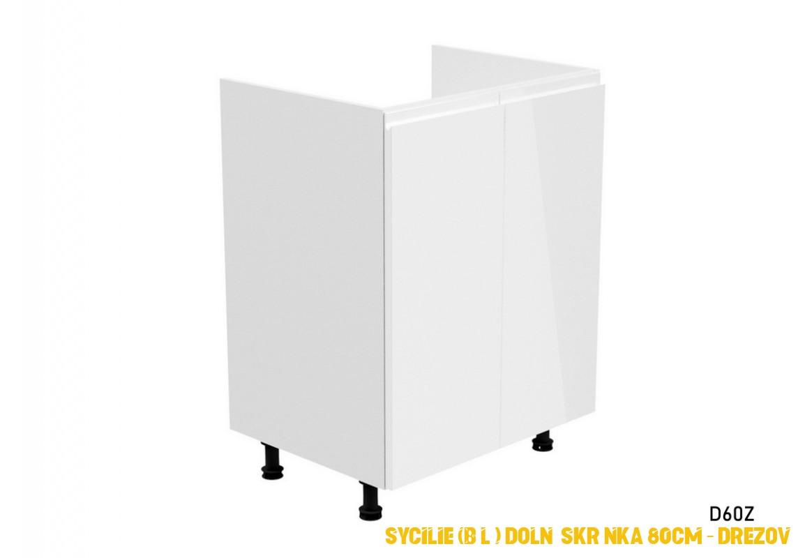 SYCILIE (bílá) dolní skrínka 80cm – drezová