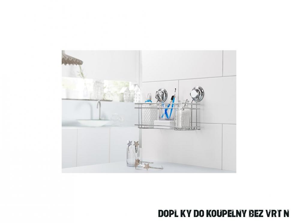 Polička do koupelny bez vrtání Compactor - Bestlock systém, nosnost až 16  kg - Domacky.cz